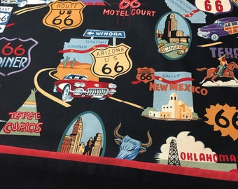 Personalized Pillowcase Route 66 Print STANDARD SIZE