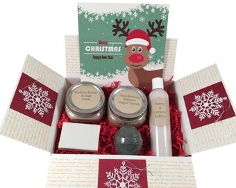 Guys Gift Box For The Holiday - Gifts For Dad, Brother, Boss Or Husband - Wish You Were Here - Merry Christmas