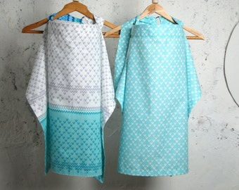 Nursing Cover,Breastfeeding Nursing Cover,Hooter Hider, Nursing Cover Apron,Green,White