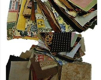 Designer Fabric Scraps, OVER 100 PIECES, Fabric Scraps, Fabric Pieces, Destash, Craft Fabric, Supplies, Material, Samples, Sewing Scraps