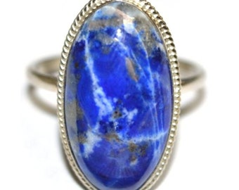 Lapis Lazuli Ring Russian Siberian Stone
