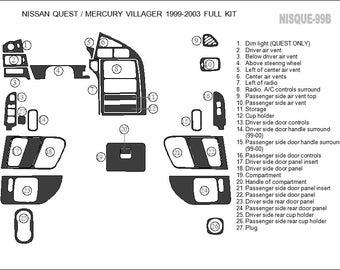 Nissan 350 z 350z gt 2003 2004 2005 premium interior set - Nissan altima 2003 interior parts ...