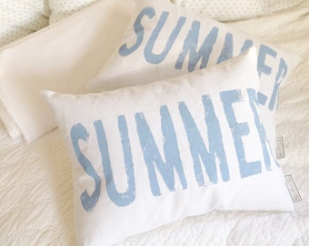 SUMMER Pillow - Beach House pillow, Lake House pillow