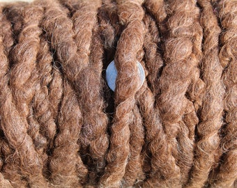100% suri NATURAL DARK BROWN core spun rug yarn