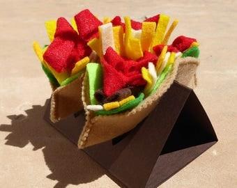 Los Tacos, Felt Food, Pretend Food, Play Food, Felt Taco, Food, Play Kitchen, Felt Toys, Play Toys, Pretend Play Toys, eco friendly