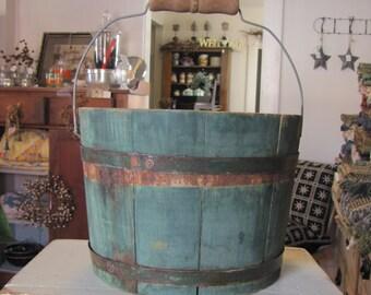 Spaulding And Frost Green Water Bucket