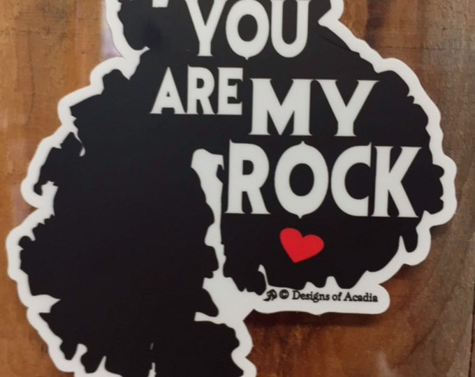 "Featured listing image: Sticker - ""MDI - You Are My Rock"" - Vinyl Sticker"