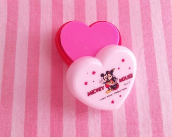 Eraser Heart Box Walt Disney Mickey & Minnie