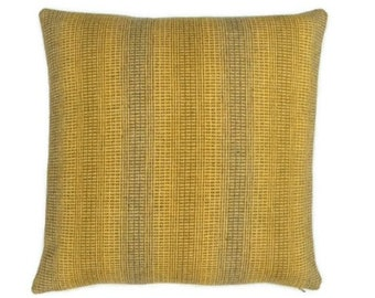 "Maharam Wool Striae - saffron - pillow (both sides) 17"" x 17"" feather insert included"
