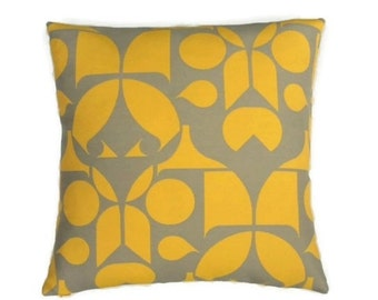 "Maharam Mister Enliven - Mid-century Modern design accent pillow 17"" x 17"" feather/down insert included"