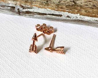 Gold Arrow Earrings, Arrow Stud Earrings, Black Arrow Stud Earrings, Rose Gold Arrow Earrings, Silver Arrow Earrings, Gift for her