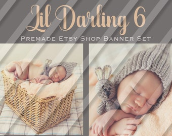 "Etsy Shop Banner Set - Graphic Banners - Branding Set - ""Lil Darling 6"""