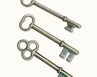 7gypsies Antique Silver Keys