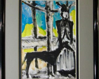 Woman With Her Hound