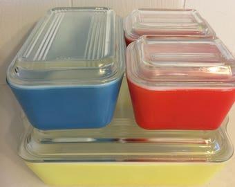 Pyrex Refrigerator storage complete set