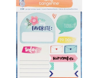 American Crafts - Amy Tangerine - Better Together Sticker Book 8 Pages - Planner Stickers