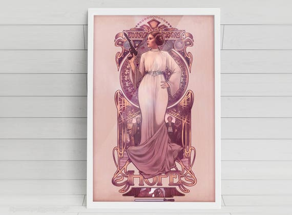 """You're My Only Hope - Princess Leia - signed 11x17"""" poster"""