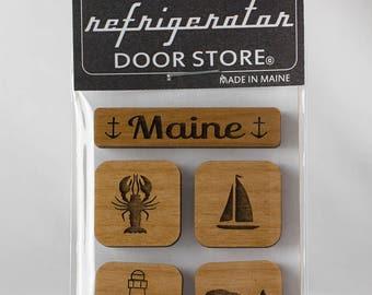 Refrigerator Magnet. Fridge Magnets. Kitchen Magnets. Kitchen Decor. Magnets. Maine.