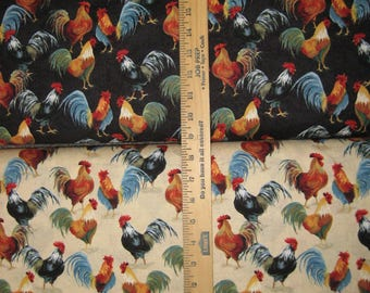 Country Roosters 41212 Cotton Fabric by Windham! [Choose Your Cut Size]