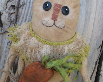 Primitive Folk Art Easter Bunny Rabbit Doll from Misty Morning Prims