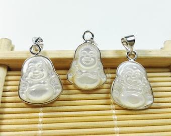 2pcs mother of pearl buddha pendants ,pearl buddha charms ,buddha jewelry