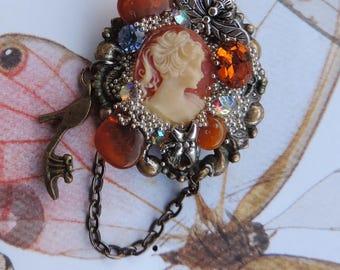 """Victorian brooch. Vintage. """"Cinderella story"""""""