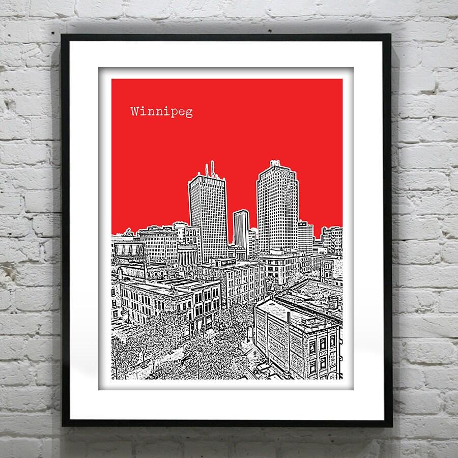 Winnipeg Manitoba Skyline Art Print