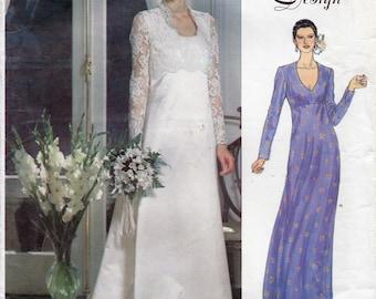 Vogue Bridal Design 2192 Bridal Gown Sewing Pattern UNCUT