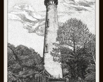 Printable Wall Art: Currituck Beach Lighthouse, Corolla, North Carolina