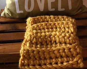Cowl Infinity Scarf, Chunky Knit