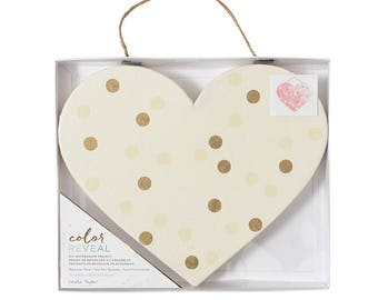 Crate Paper ColorReveal Heart Panel