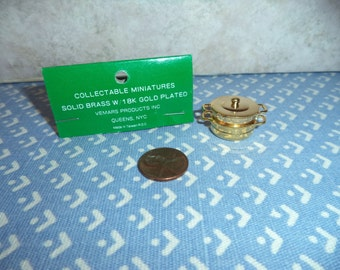 1:12 scale Dollhouse Miniature Double Boiler w/strainer