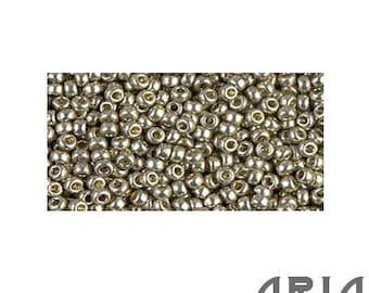 DURACOAT Light SMOKEY PEWTER (4221): 11/o Miyuki Japanese Seed Beads (10 grams)