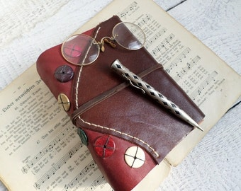 Rustic Brown Leather Handbound Journal Ready to Ship