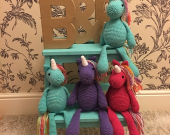 Amigurumi Hand Crochet Unicorn Toy