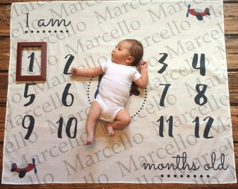 Personalized first year monthly backdrop background birth announcement calendar