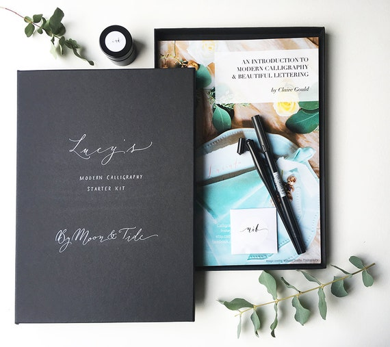 Beautiful Personalised Calligraphy Starter Set With Full