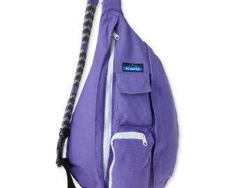 Monogrammed Kavu Rope Bags - Imperial Purple -  Great for teens, women, girls of all ages.  Great  for Birthdays, Anniversaries, etc
