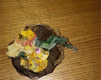 Fabric brooches organza handmade accessory fabric art flower brooch