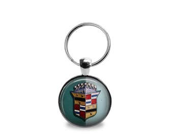 Vintage Cadillac Emblem Key Chain or Pendant