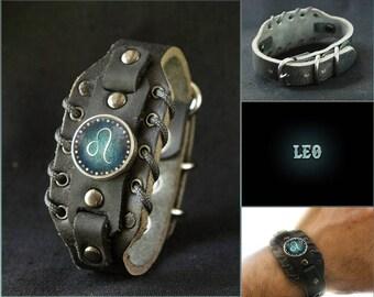 Horoscope Leo Bracelet for Men