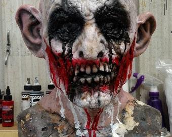 Made To Order Full Head Foam Latex Evil Clown Mask