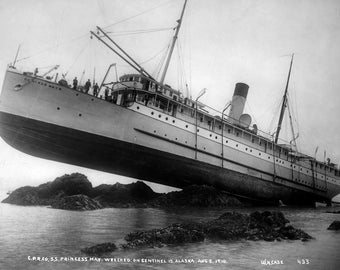 S.S. Princess May wrecked on August 5, 1910, Shipwreck, Alaska, Amazing Picture