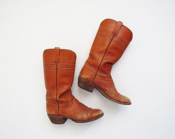 1970's Western Boots // SIZE 6.5 Lucchese Cowboy Boots // Women's Vintage Boots
