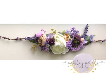 M2M Well Dressed Wolf French Lavender- wdw FL halo- halo- purple halo- Lavender halo- wedding halo- bride halo- maternity halo