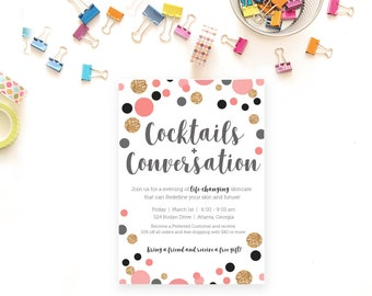 Rodan and Fields Launch Party, Cocktails and Conversation, Digital File, Personalized