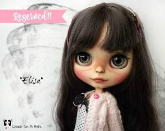 "RESERVED TO ELISA - Custom Blythe doll ""Elisa"""