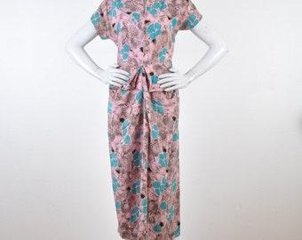 1940 Day Dress Rayon Print
