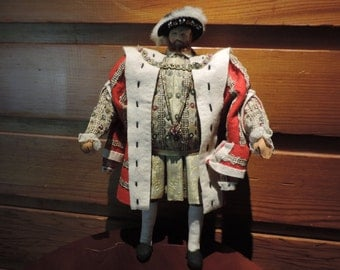 King Henry VII,King Henry VII Doll,Liberty of London Doll,King Henry VII Liberty of London Doll,