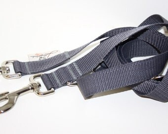 Dog leash adjustable dark grey line for dogs